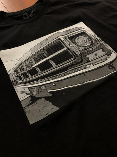 GMC AVE COMIC BLACK T-SHIRT