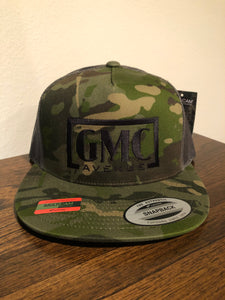GMC AVE STAMP LOGO MULTICAM HAT BLACK STITCHING