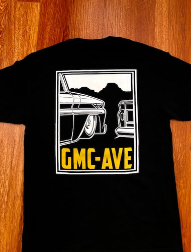 GMC AVE TRUCK STOP BLACK T-SHIRT