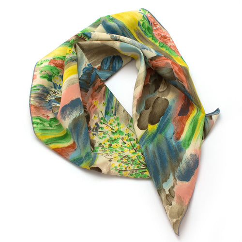 1960s Painted Desert Silk Bandana - Knickers & Whiskey