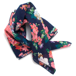 1950s Navy Garden Rose Bandana - Knickers & Whiskey