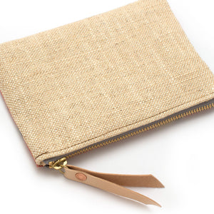 Vintage Kyoto Silk & Natural Zipper Pouch - Knickers & Whiskey