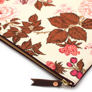 1960s Botanical Clutch/ Laptop Sleeve