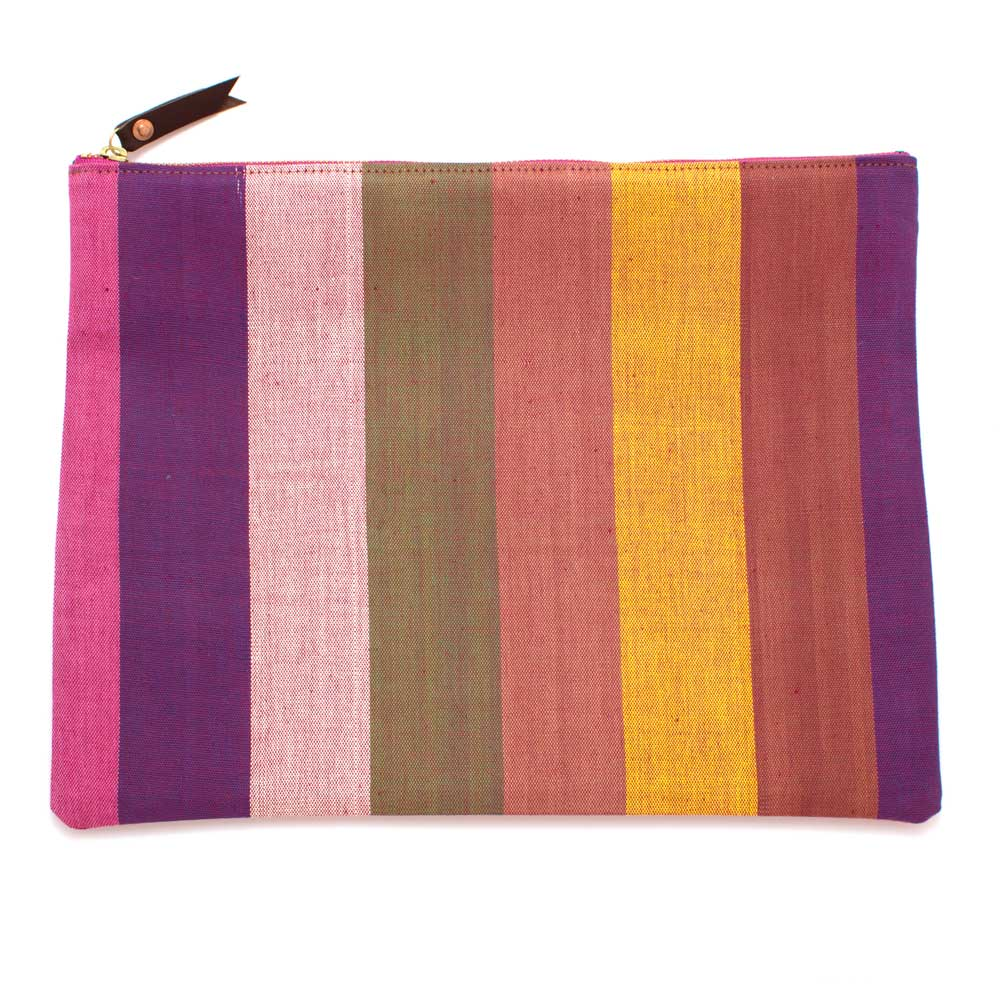 Vintage Silk Road Stripe Clutch/Laptop Sleeve