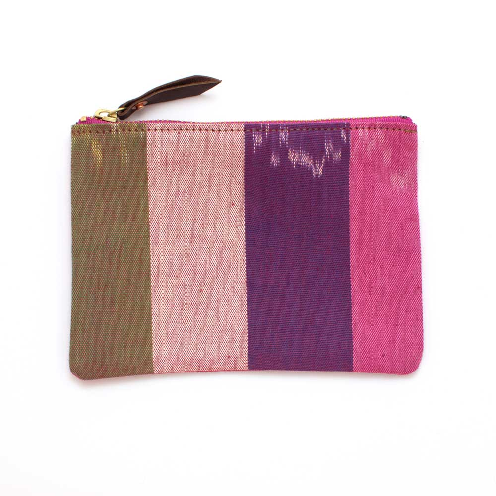 Vintage Silk Road Stripe Zipper Pouch
