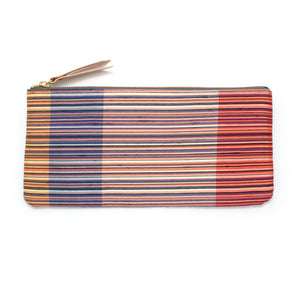 1970s Red Como Stripe Envelope Pouch - Knickers & Whiskey
