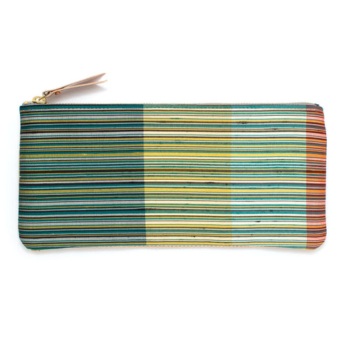 1970s Green Como Stripe Envelope Pouch