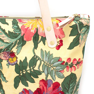 1960s Jacquard Floral Portfolio Tote - Knickers & Whiskey