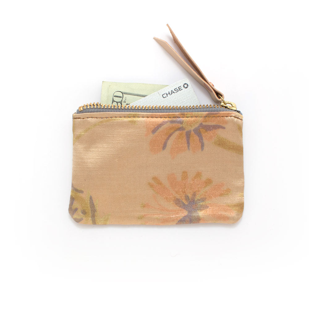 Vintage Brushstroke Floral Zipper Wallet - Knickers & Whiskey