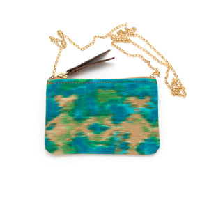 Cool Indian Ikat Zipper Pouch Pendant