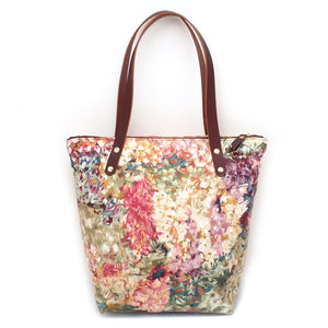 1960s Watercolor Garden Portfolio Tote