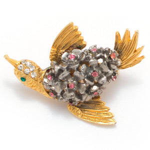 1960s Tiny Bird Brooch - Knickers & Whiskey