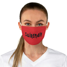 SOÍREMAÍN - RED FACE MASK BLACK LOGO