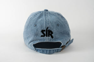 SOÍREMAÍN - LIGHT BLUE DENIM CAP/BLACK LOGO & SUEDE BRIM