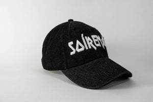 SOÍREMAÍN - BLACK DENIM CAP/WHITE LOGO