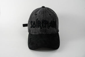 SOÍREMAÍN - DARK GREY DENIM CAP/BLACK SUEDE BRIM