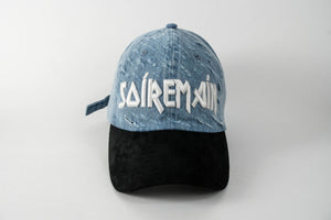 SOÍREMAÍN - LIGHT BLUE DENIM CAP/BLACK SUEDE BRIM