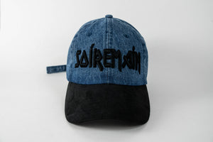SOÍREMAÍN - BLUE DENIM CAP/BLACK SUEDE BRIM