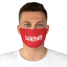 SOÍREMAÍN - RED FACE MASK WHITE LOGO