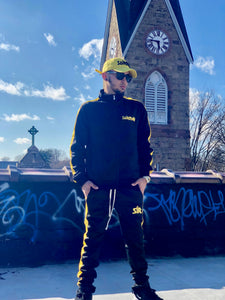 SOÍREMAÍN - BLACK/YELLOW TRACK SUIT