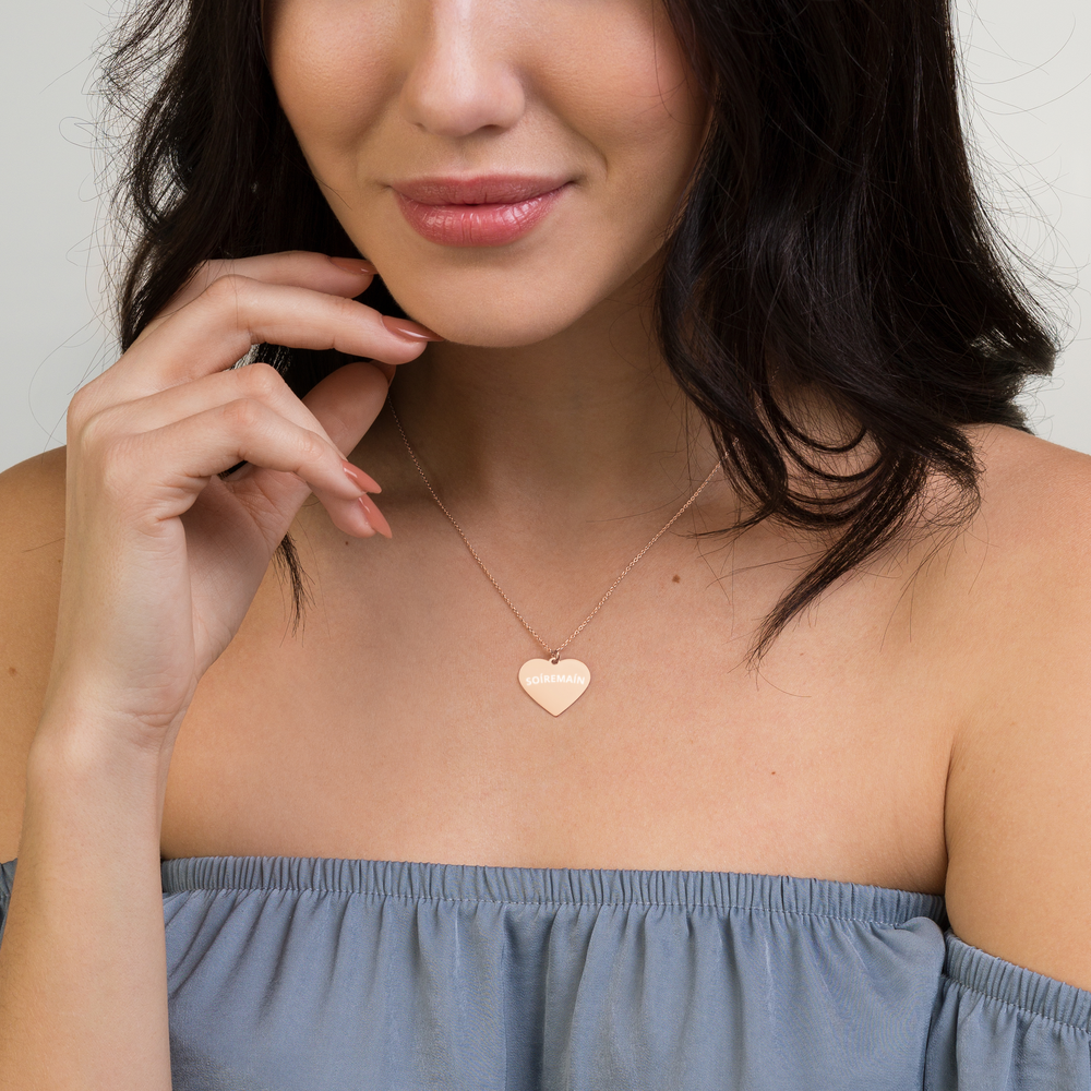 SOÍREMAÍN Engraved Heart Necklace