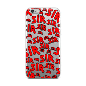 SOÍREMAÍN - RED PRINT IPHONE CASE