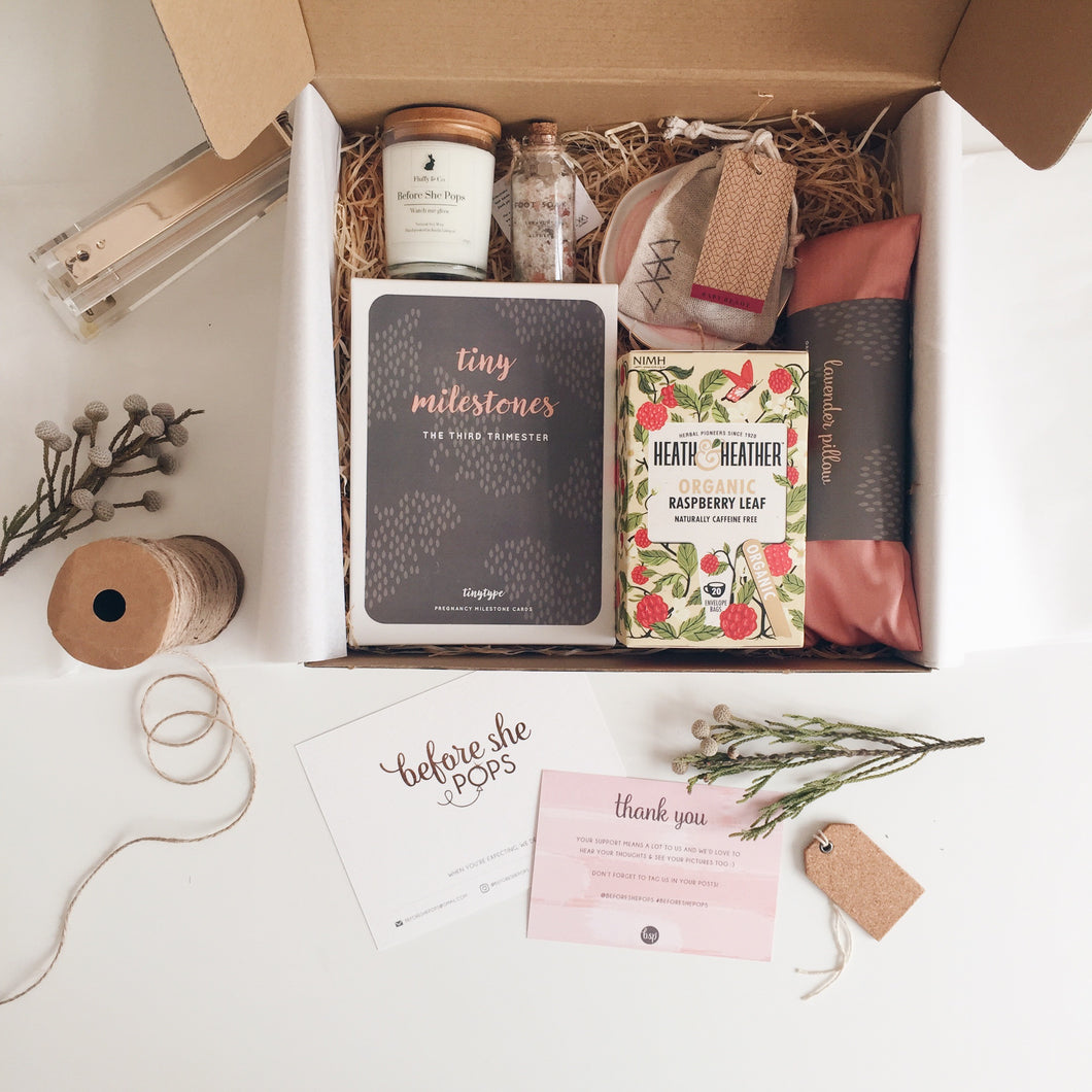 Third Trimester Box + Daun & Petals Bouquet