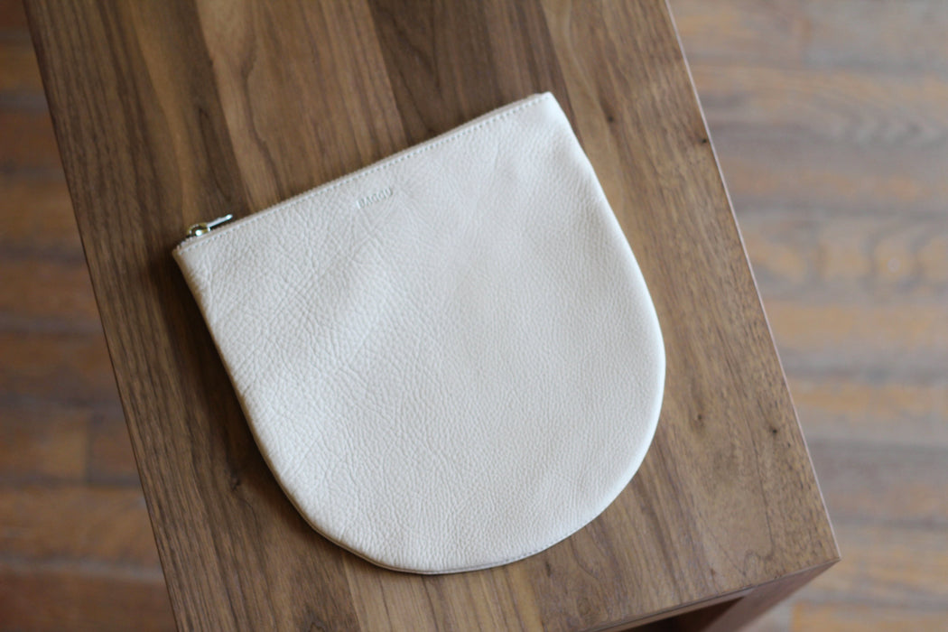 Natural Leather U Pouch