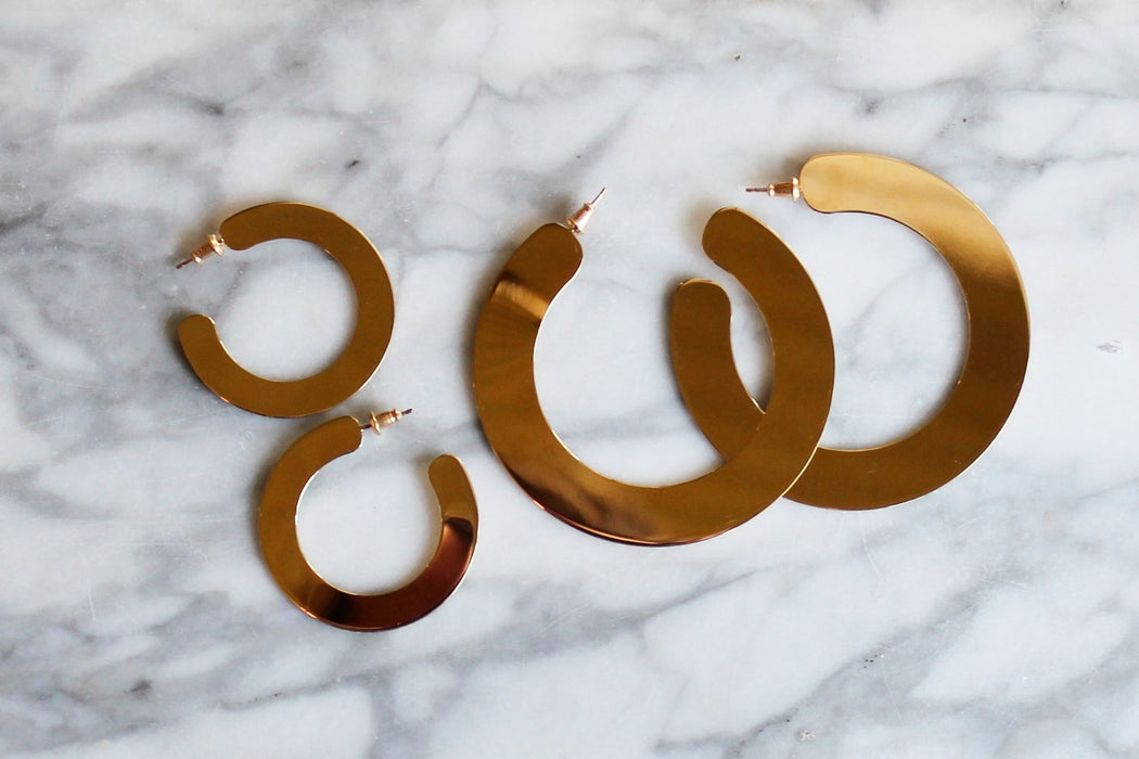 Gold Slice Hoops