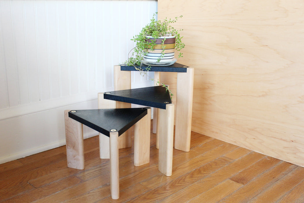 ALTWOOD Ebonized Plant Stands