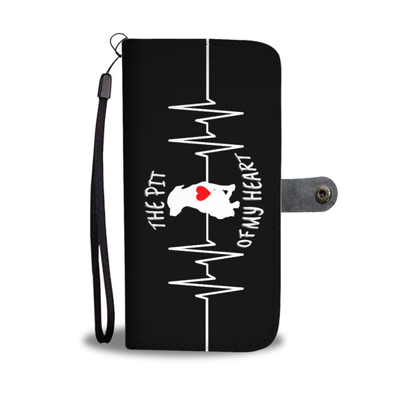 THE PIT OF MY HEART - Black - Premium Cell Phone Wallet Case IPhone Samsung Galaxy LG HTC Google - Save Adopt Love Apparel