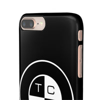 TCBC - Apple IPhone Samsung Galaxy Snap on Cell Phone Cases - Black