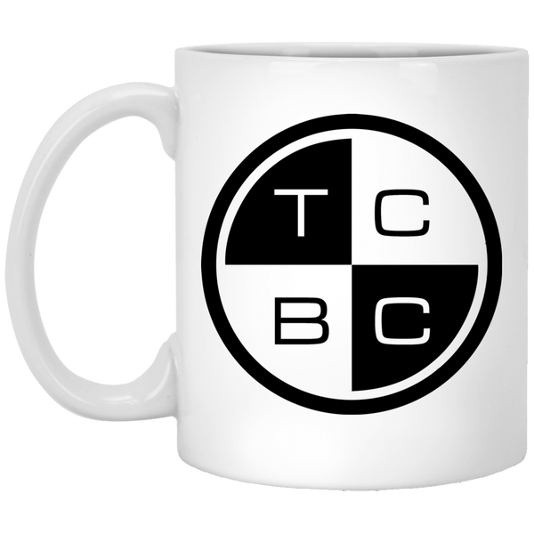 TCBC - Ceramic 11 oz. White Coffee Mug - Black