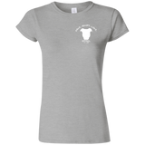 BE THEIR VOICE - White - Back Art - Premium Softstyle Ladies Pit Bull T-Shirt - Save Adopt Love Apparel