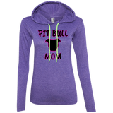 PIT BULL MOM - Black/Pink - Premium Ladies Pit Bull Hoodie - Save Adopt Love Apparel