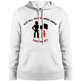 HEROES ADOPT- Black/Red - Ladies Pit Bull Adoption Pullover Sweatshirt Hoodie - Save Adopt Love Apparel