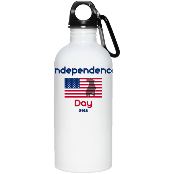 Independence Day 2018 20 oz. Pit Bull Stainless Steel Water Bottle - Save Adopt Love Apparel