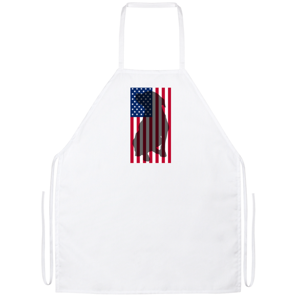 American Flag Pit Bull Apron - Save Adopt Love Apparel
