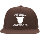 PIT BULL ADVOCATE - White - Pit Bull Flat Bill Flexfit Embroidered Hat - Save Adopt Love Apparel
