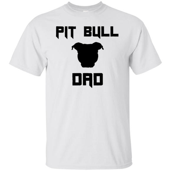 PIT BULL DAD - Black/Front - Men's Pit Bull T-Shirt - Save Adopt Love Apparel