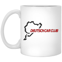 Deutsch Car Club - Ceramic 11 oz. White Coffee Mug