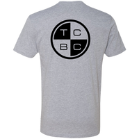 TCBC - Next Level Premium Short Sleeve T-Shirt (Front and Back Logo) Blue