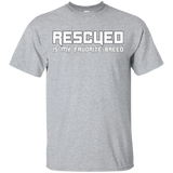 RESCUED IS MY FAVORITE BREED - White - Unisex T-Shirt - Save Adopt Love Apparel