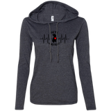 THE PIT OF MY HEART - Black/Red - Premium Ladies Pit Bull Hoodie - Save Adopt Love Apparel