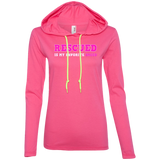 RESCUED IS MY FAVORITE BREED - Pink/White/Pink - Premium Ladies Hoodie - Save Adopt Love Apparel