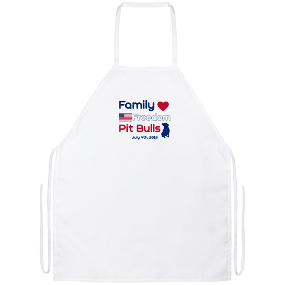 Family Freedom Pit Bulls Apron - Save Adopt Love Apparel