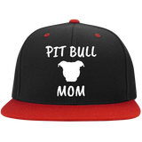 PIT BULL MOM - White - Pit Bull Snapback Embroidered Hat - Save Adopt Love Apparel