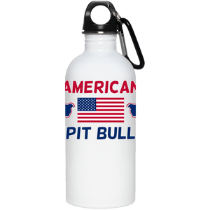 American Pit Bull 20 oz. Stainless Steel Water Bottle - Save Adopt Love Apparel