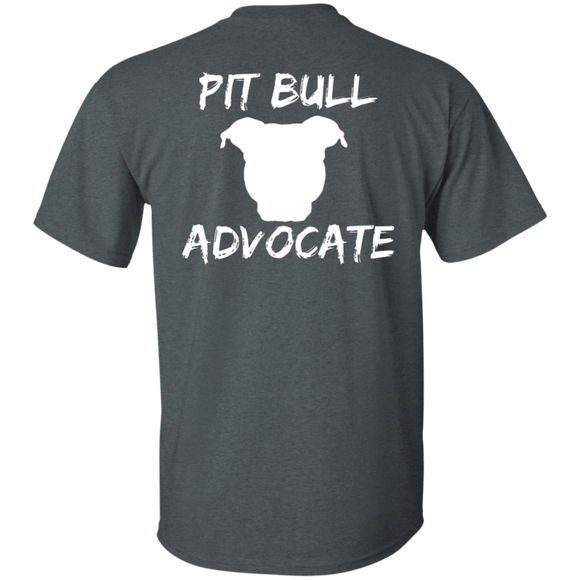 PIT BULL ADVOCATE  - Back Art - White - Pit Bull Unisex T-Shirt - Save Adopt Love Apparel