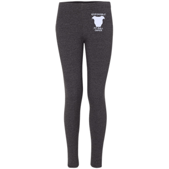 RESPONSIBLE PIT BULL OWNER - Premium Embroidered Women's Pit Bull Leggings - Save Adopt Love Apparel